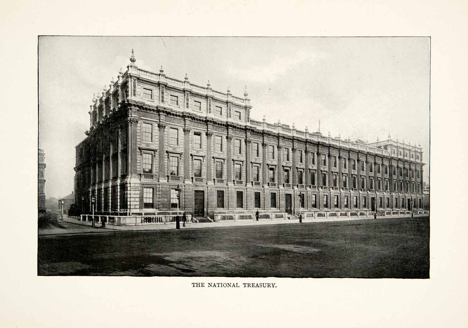 1902 Print Her Majestys National Treasury Building London England United XGNB6 - Period Paper