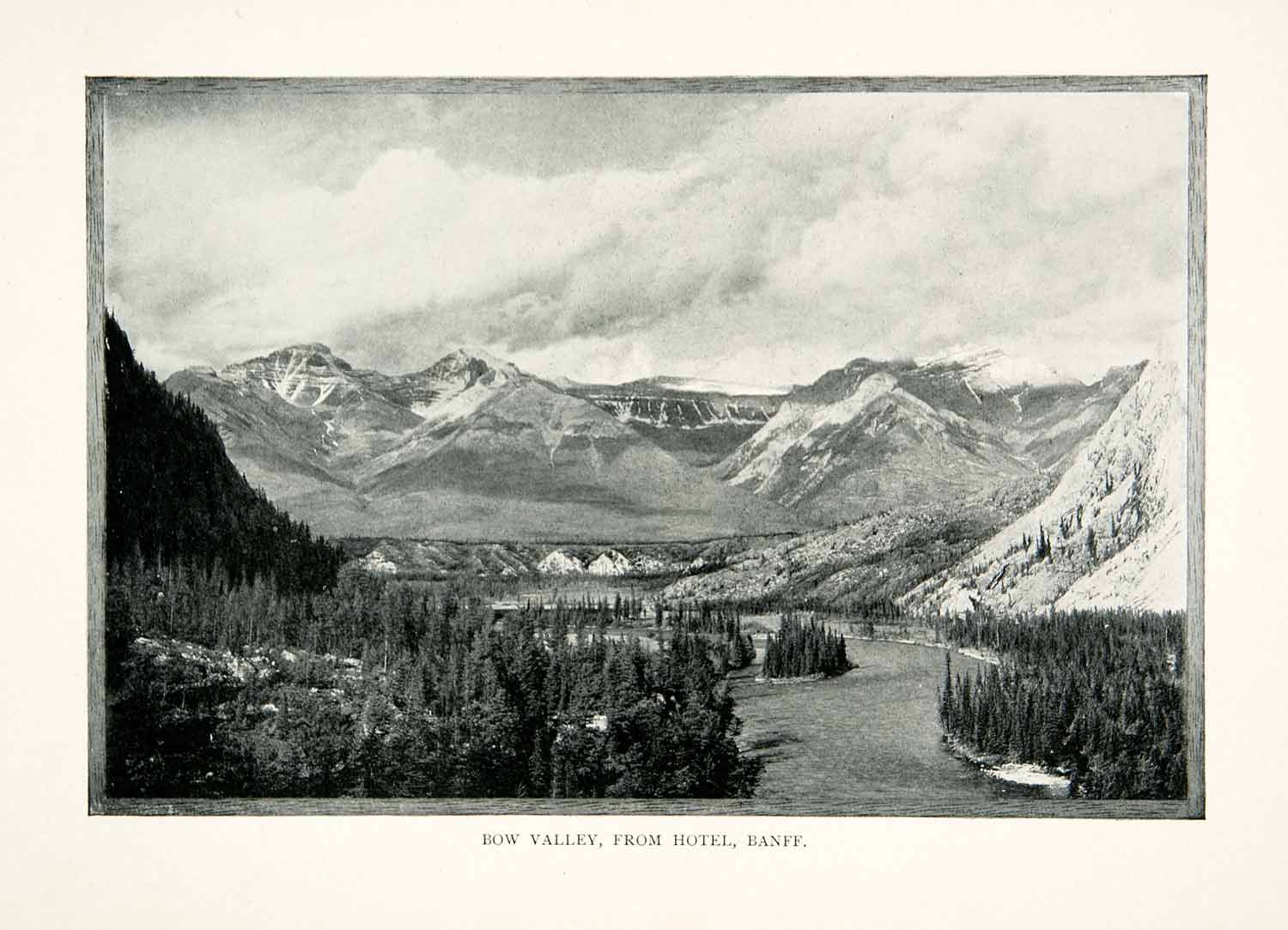 1902 Print Bow Valley Banff Alberta Canada Canadian Rockies Mountain XGNB7