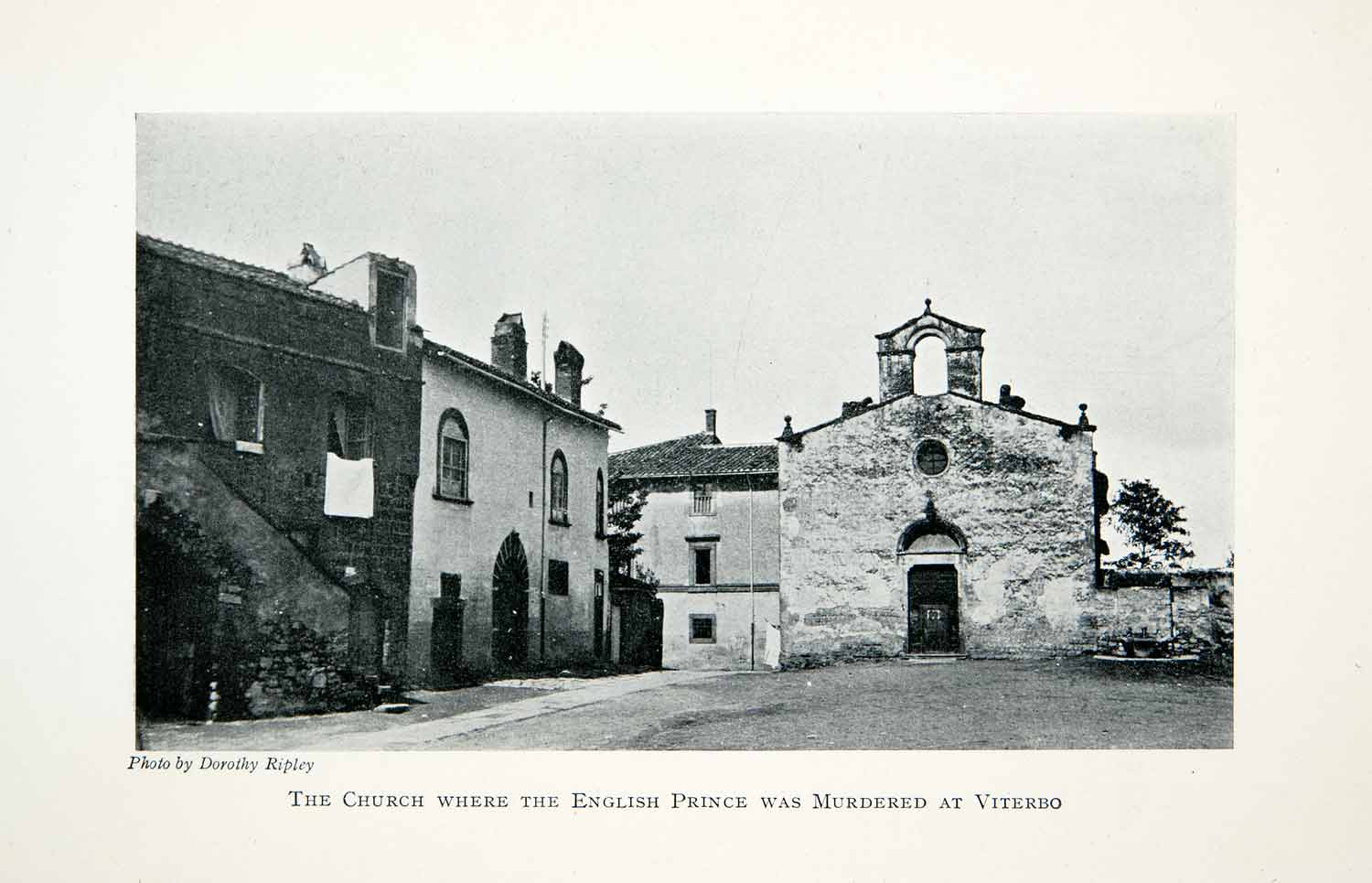 1912 Print Church English Prince Murder Viterbo Italy Chiesa di San XGNC9