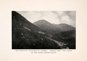 1912 Halftone Print Andorra Ariege France Valley Mountain Pyrenees XGOA5