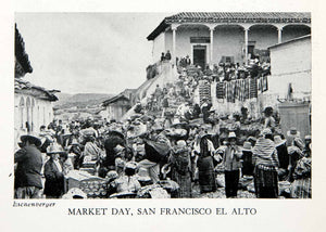 1943 Print Market Day San Francisco El Alto Indigenous People Eichenberger XGOC3