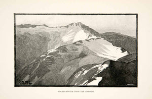 1895 Print Hochalmspitze Ankogel Group Alps Mountains Peak Landscape Hohe XGPB1