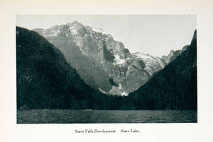 1915 Print Stave Falls Development Landscape Mountain Lake Scenery Canada XGPC8