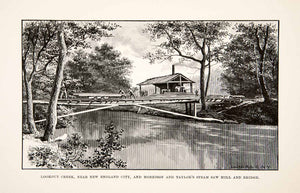 1890 Print Lookout Creek Georgia Morrison Taylor Steam Saw Mill Bridge XGPC9