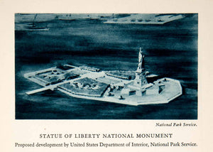 1943 Rotogravure Statue of Liberty National Monument Island Park Bartholdi XGQC1