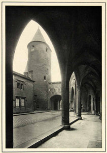 1937 Rotogravures Porte Allemands Medieval City Gate France Eyraud XGRC2