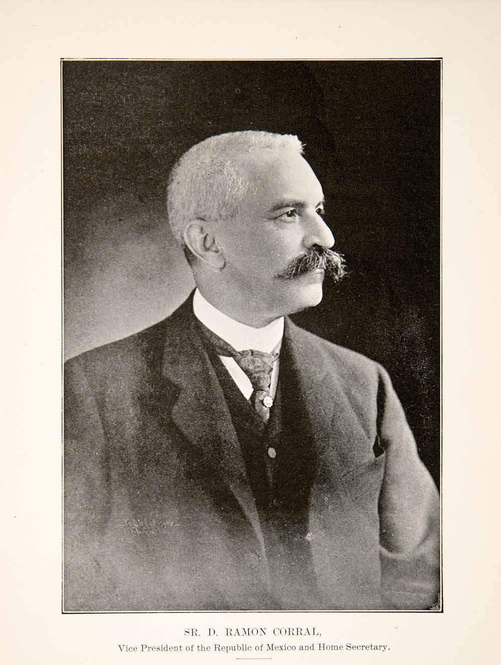 1906 Print Senor Ramon Corral Vice President Republic Mexico Home XGSB9