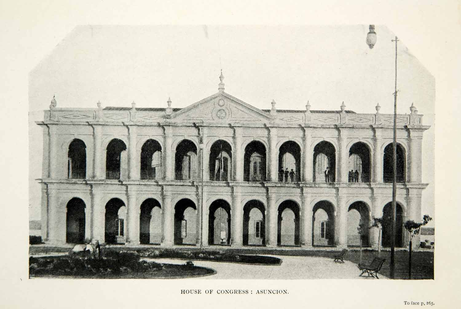 1917 Print House of Congress Cabildo City Asuncion Paraguay Building XGSC1