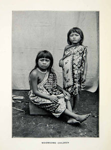 1904 Print Waiomgomo Children Cultural Dress Tribe Venezuela Ethnography XGSC3