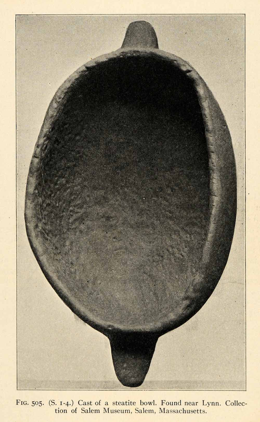 1910 Print Cast Steatite Bowl Lynn Salem Massachusetts Museum Native XGT1