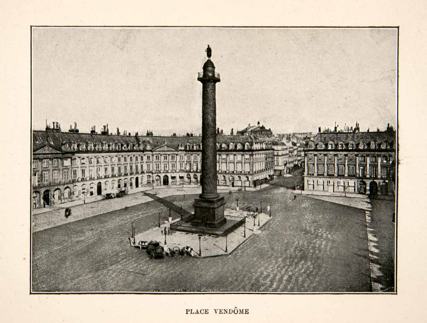 1900 Print Place Vendome Column Paris France Architecture Monument Public XGTB9