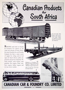 1949 Ad Canadian Car Foundry Locomotive Train South Africa Railway XGTC8