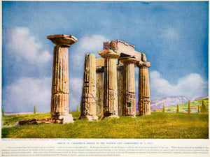 1924 Color Print Shrine Corinth Apollo Rome Greece Rome Caesar Lucius XGTC9