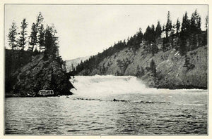 1901 Print Bow Falls Banff National Park Canada Forest River Rocky Nature XGU5