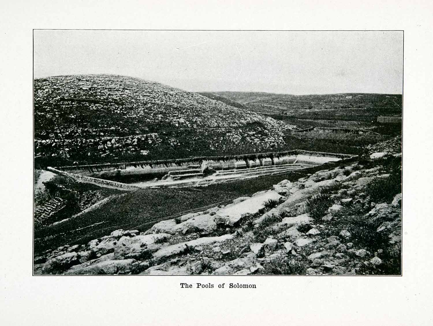 1915 Print Pools Solomon Historical Biblical Religion Middle East Landmark XGVA4