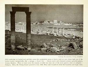 1932 Print Syria Palmyra Ruins Flying Carpet Expedition Richard XGVC9