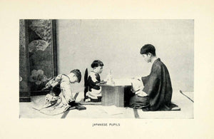 1906 Print Japan Pupil Education Schools Children Teacher Lesson Tradition XGW3