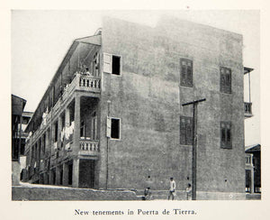1926 Print Tenement Puerta De Tierra Puerto Rico City Building Apartment XGWB4