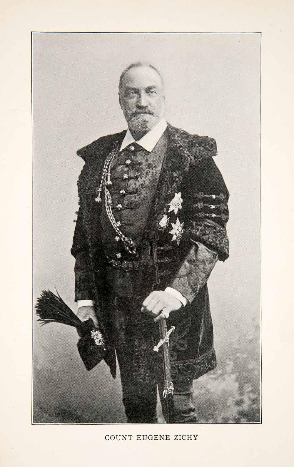 1903 Print Hungarian Noble Count Eugene Zichy Magyarok Portrait Uniform XGWB6