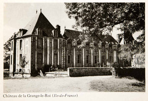 1944 Photogravure Chateau Grange Roi Roy Ile France Grisy Suisnes Mansion XGWB8