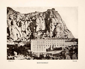 1909 Print Abbey Monastery Spain Montserrat Catalonia Mountain Church XGWB9