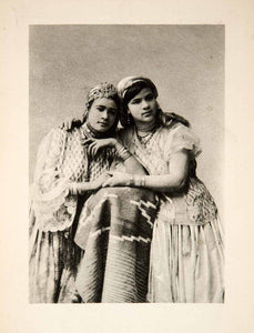 1900 Photogravure Women Dress Costume Jewelry Africa Middle East Girls XGWC7