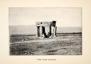 1900 Print Baalbek Tomb Lebanon Site Historical Monument Ancient Pillar XGWC7