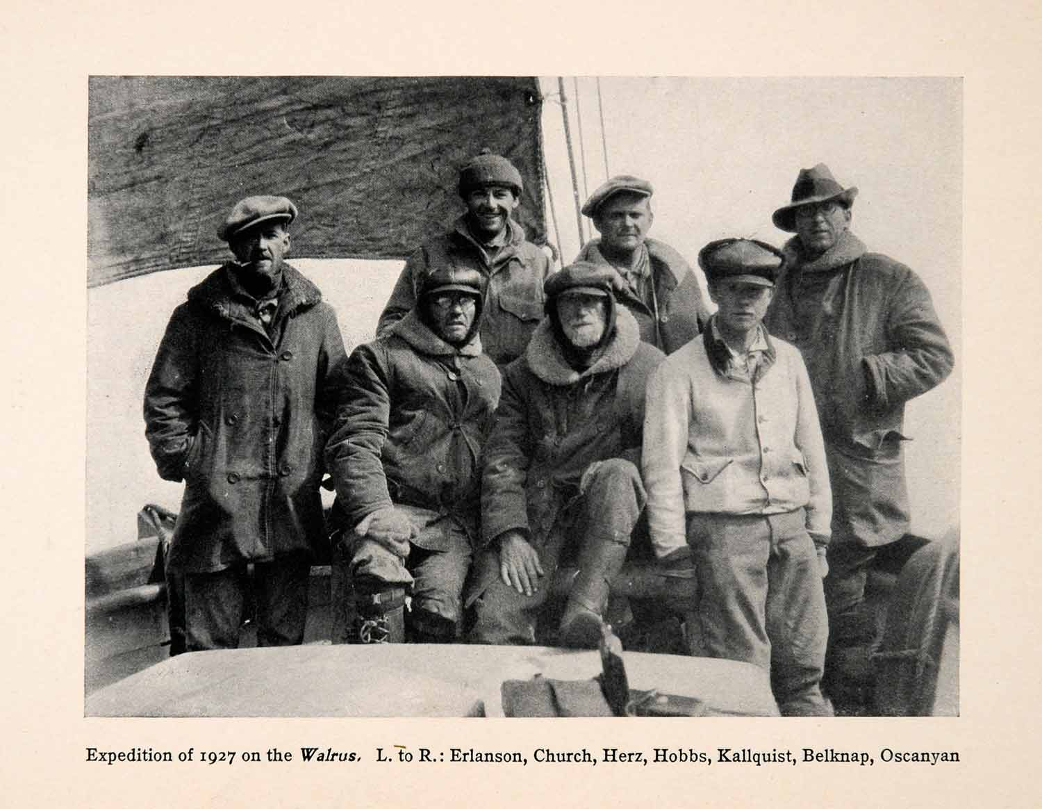 1930 print greenland expedition walrus ship explorers research