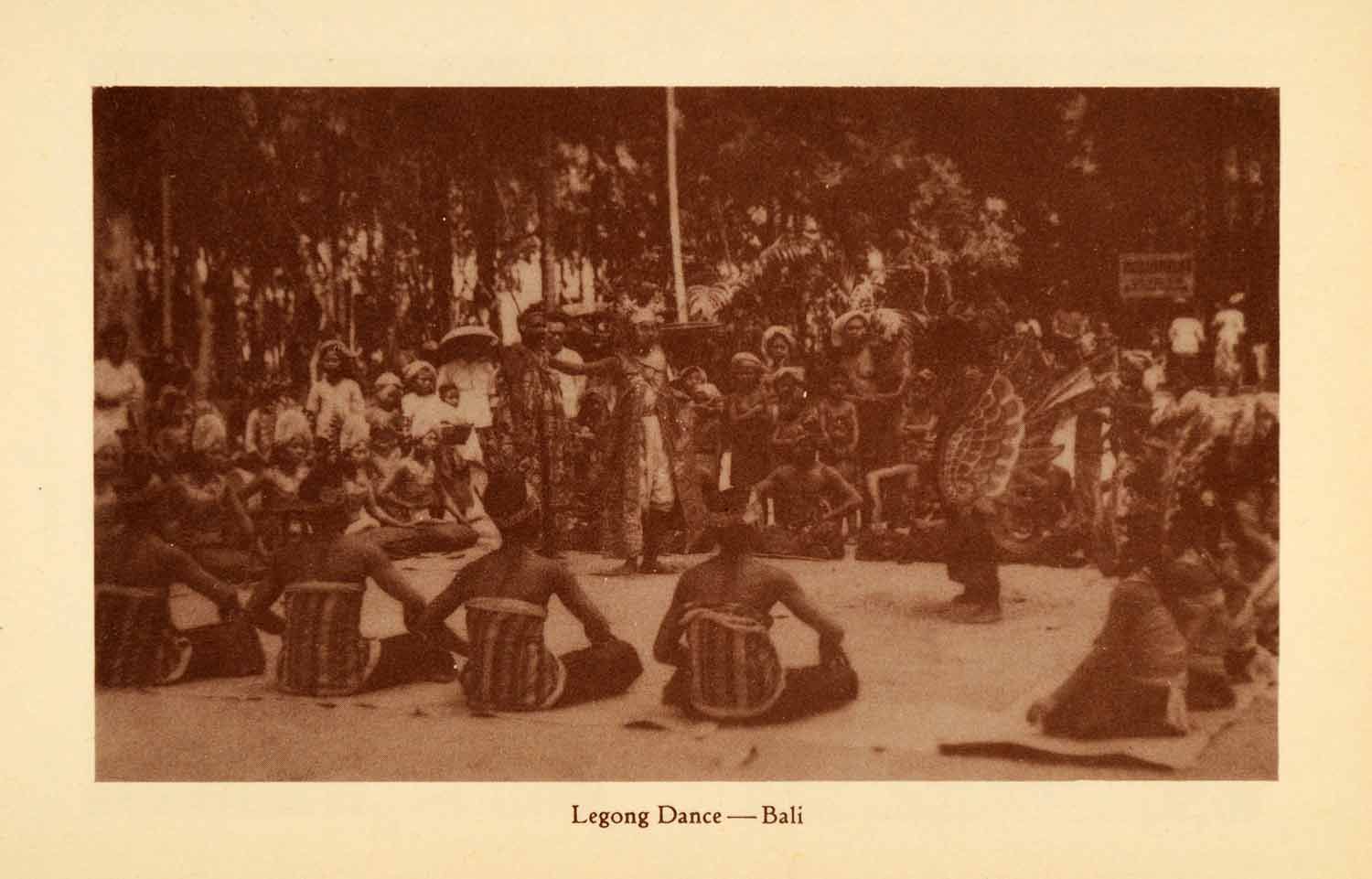 1936 Halftone Print Bali Indonesia Legong Dance Perform Tradition Native XGX6