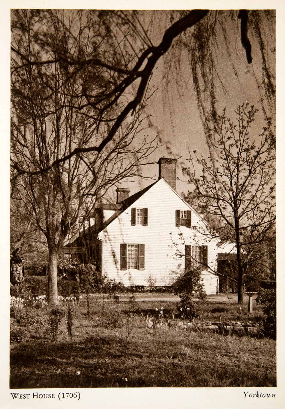 1947 Photogravure West House Yorktown Virginia Colonial Architecture XGXB2