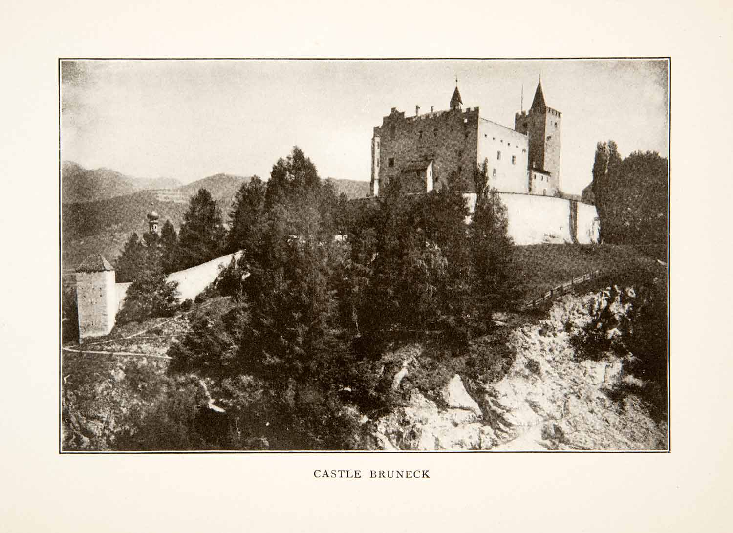 1905 Print Castle Bruneck South Tyrol Italy Castle Fortress Landscape XGXB8