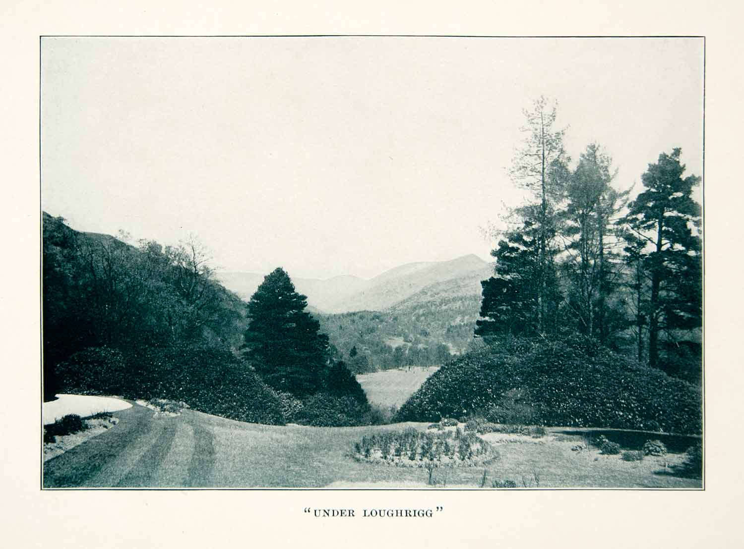 1914 Print Loughrigg Fell Cumbria England Lake District Landscape Vista XGXC2