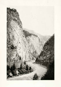 1899 Photogravure Viamala Switzerland Gorge Entrance Path Natural History XGYA5