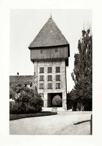 1899 Photogravure Constance Konstanz Germany Rhine Gate Tower Historic XGYA5