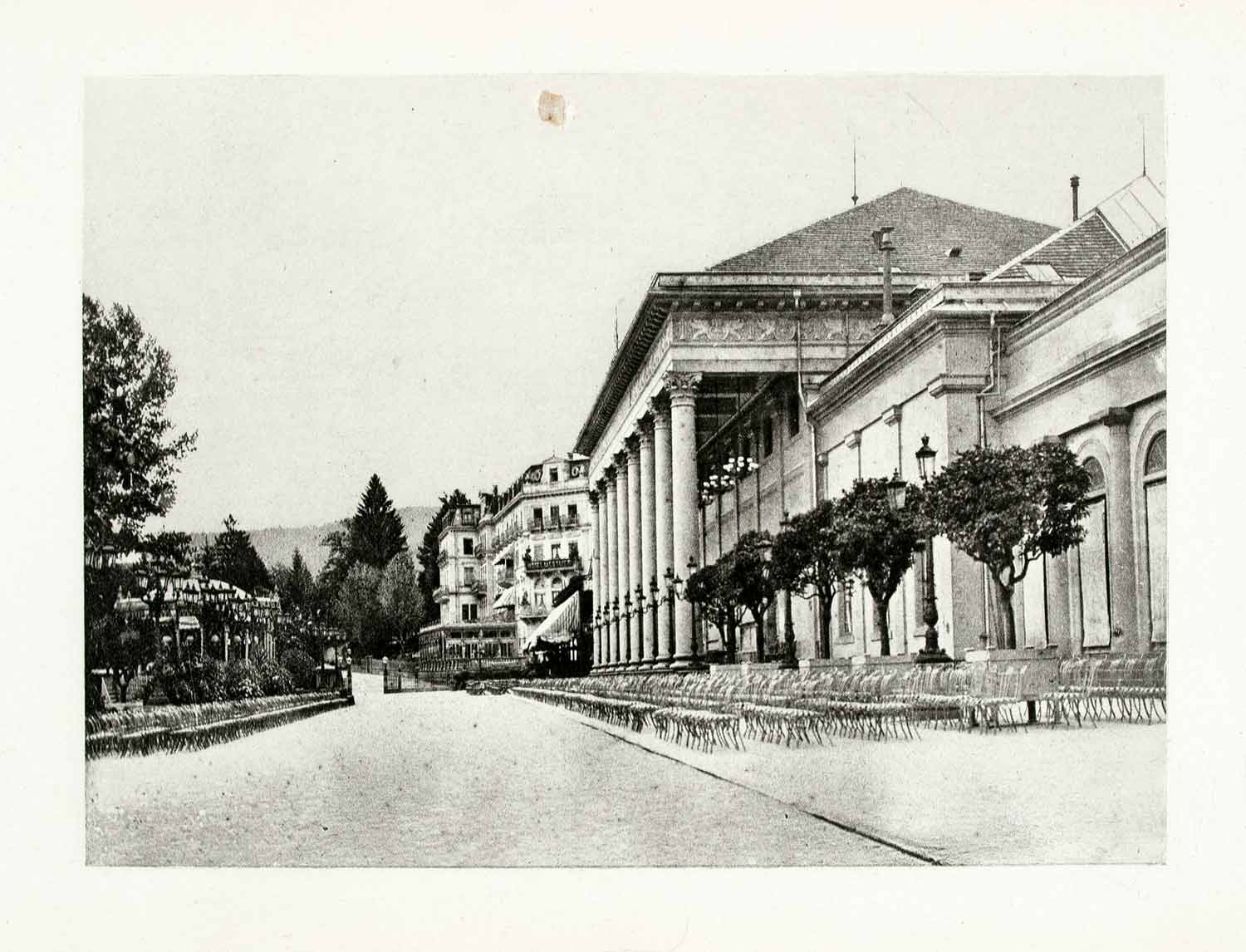 1899 Photogravure Baden Germany Conversation House Building Historic Image XGYA5