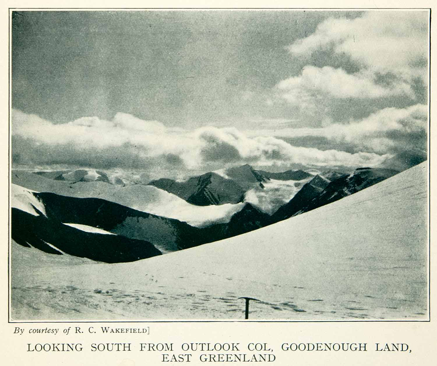 1934 Print Outlook Goodenough Land East Greenland Landscape Mountains XGYA8