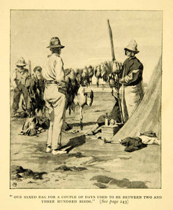 1926 Print Cecil Gosling Hunters Game Fowl Birds Natives Traditional XGYC2
