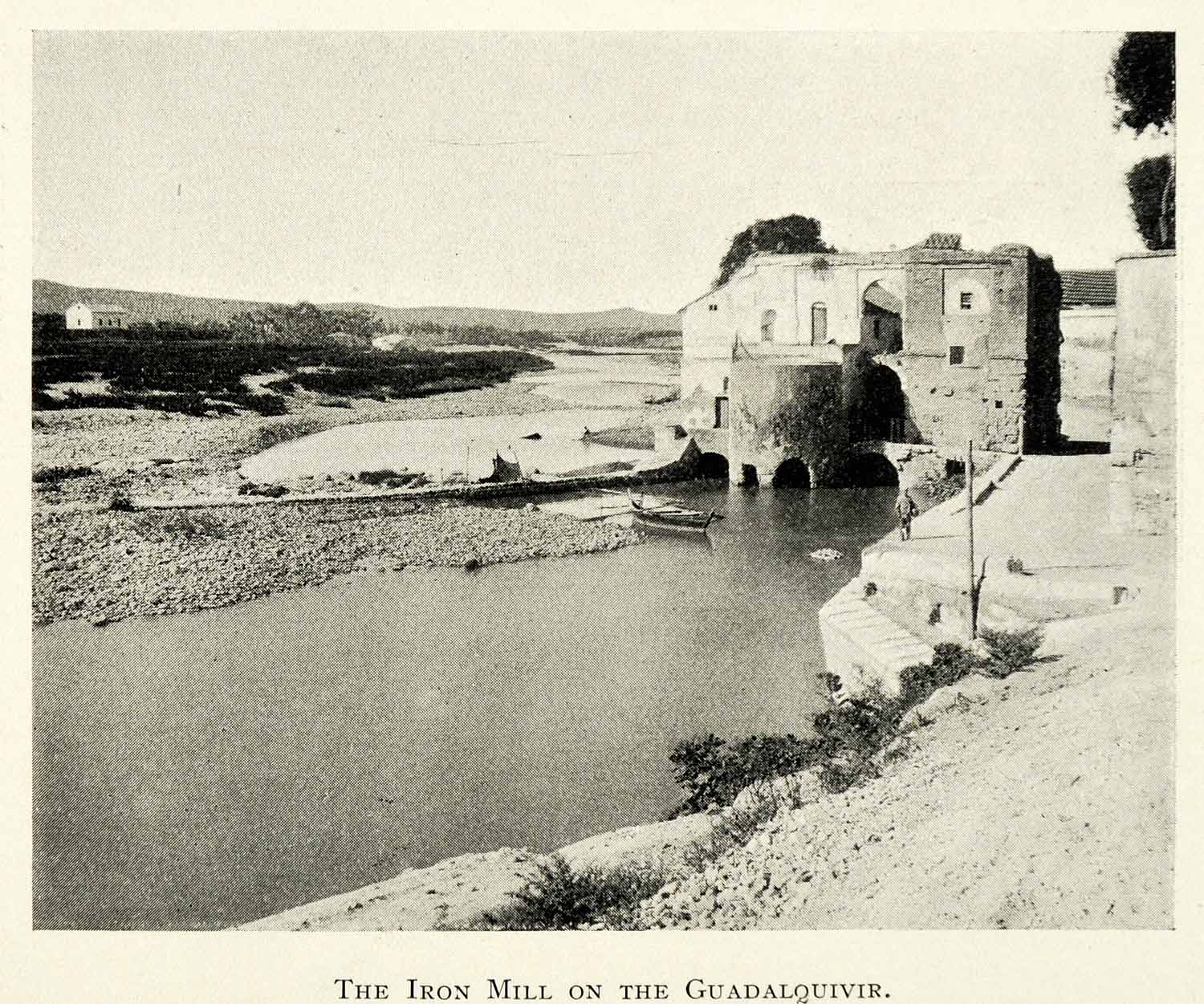 1907 Print Cordova Andalusia Spain Iron Mill City Guadalquivir River XGZ4