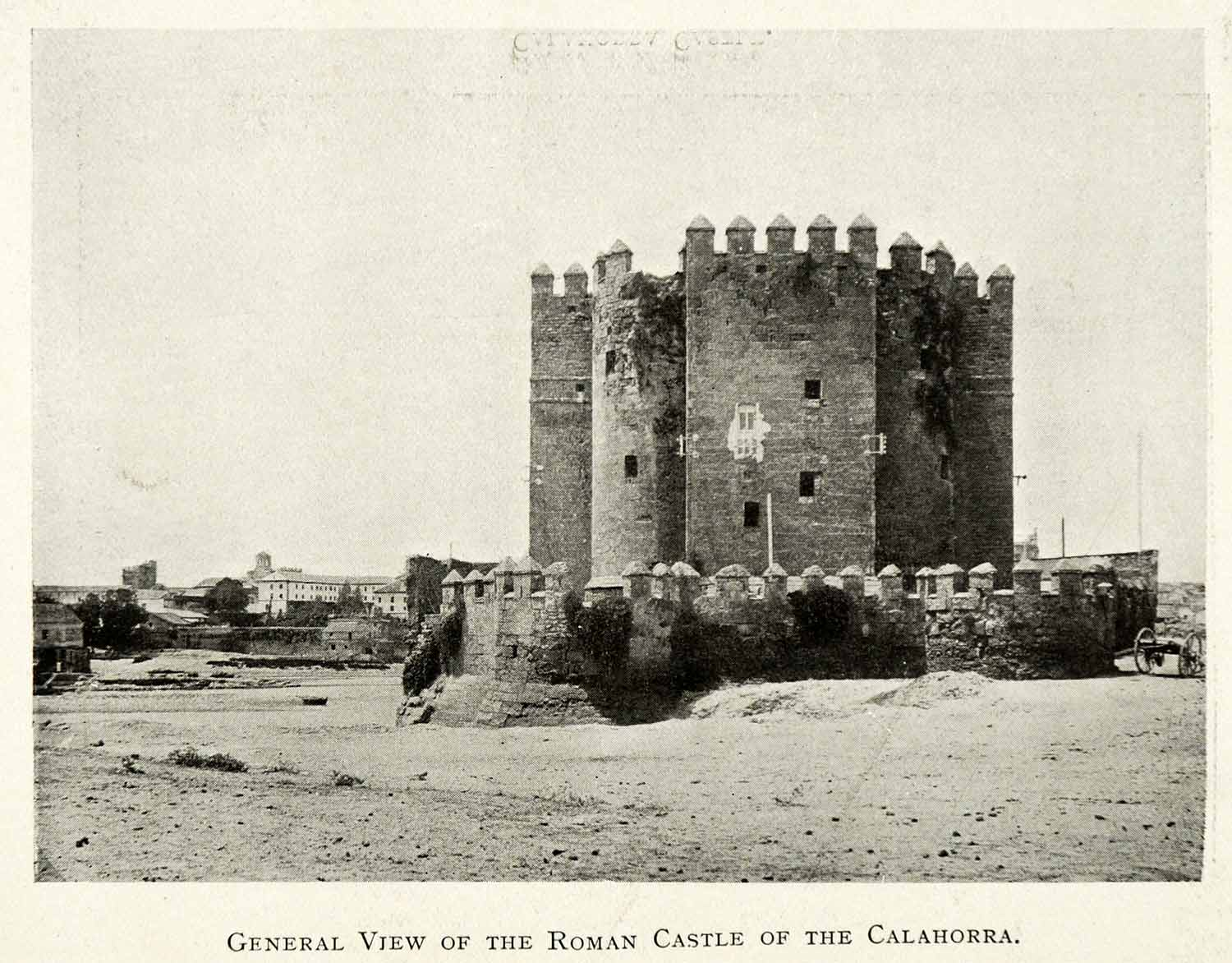 1907 Print Cordoba Andalusia Spain Roman Castle Calahorra Tower Fort XGZ4