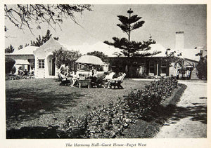 1947 Print Harmony Hall Guest House Paget West Bermuda Front View Historic XGZA6