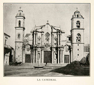 1919 Print Cathedral Virgin Maria Conception Havana Cuba Architecture XGZB4