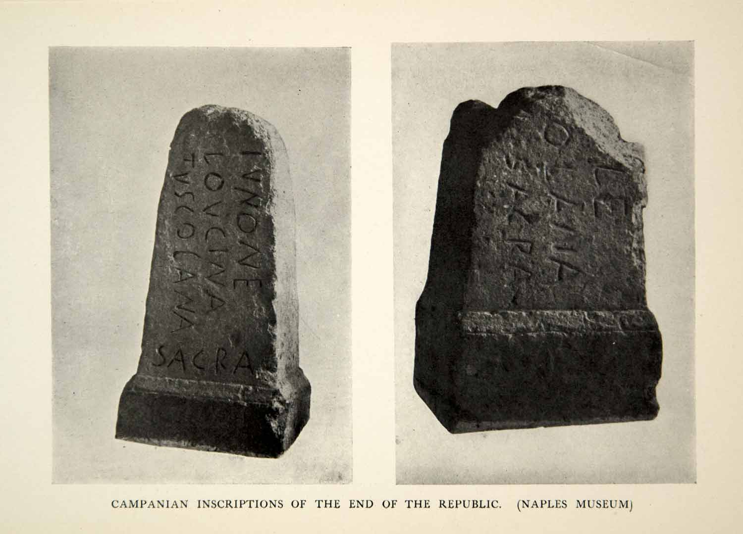 1905 Print Campanian Inscriptions End Republic Ancient Rome Stone Language XHD4