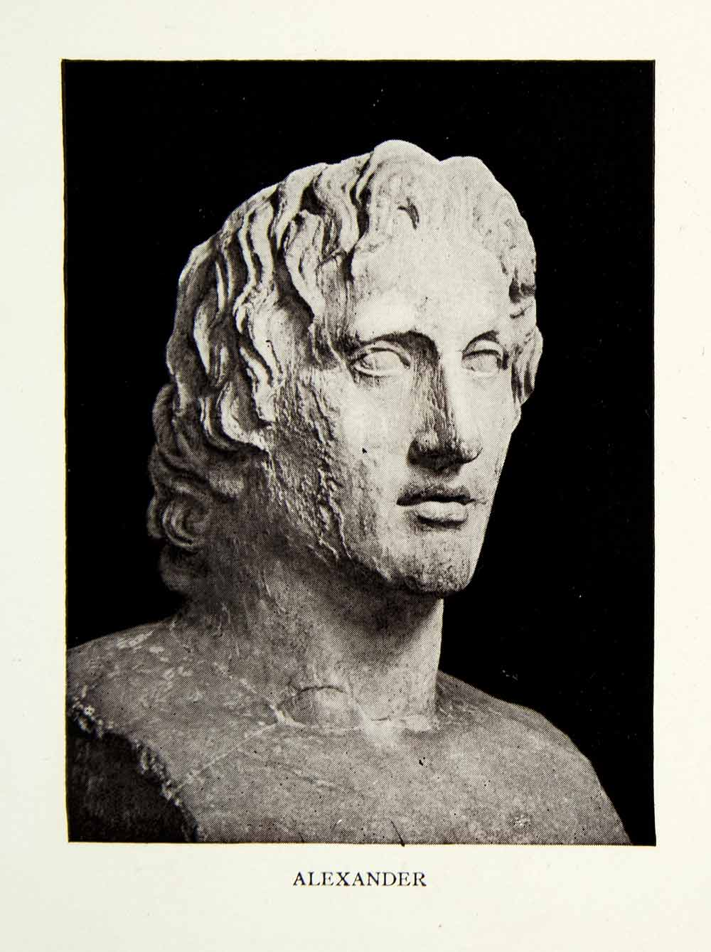 1929 Print Alexander Great Ancient Greece Statue Sculpture Military XHD9
