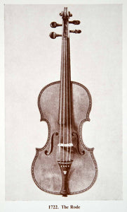 1961 Print Antonio Stradivarius Pierre Rode Violin Musical String XMA4