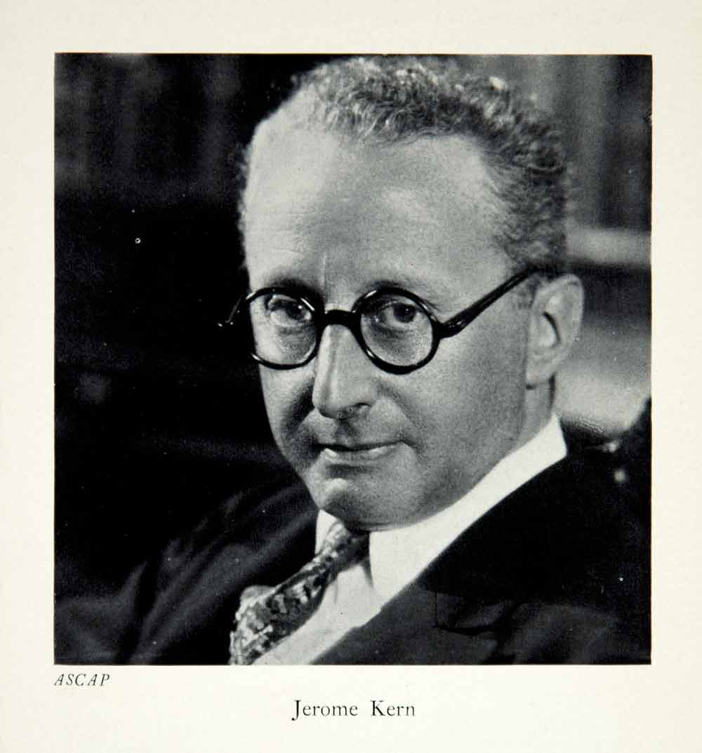 1941 Print Jerome David Kern Portrait Music Composer Princess Theater XMC9