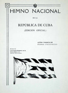 1949 Sheet Music Cuba Himno Nacional National Anthem La Bayamesa Song XME7 - Period Paper  - 1