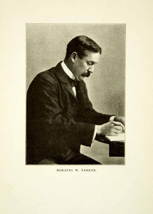 1914 Print Horatio William Parker Portrait Music Composer Organist Teacher XMF3