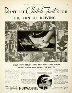 1931 Ad Free Wheeling Hupmobile Clutch Foot Century Six Sedan Automobile YAB2
