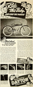 1940 Ad Huffman Dayton OH Deluxe Mainliner Bicycle Children Sporting Goods YAB3