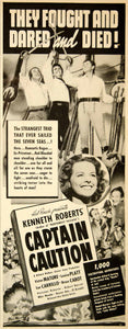 1940 Ad Captain Caution Movie Film Poster Hal Roach Kenneth Roberts Bruce YAB3